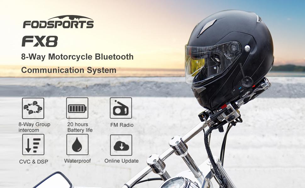 Amazon Com  Fodsports Fx8 Motorcycle Bluetooth Intercom