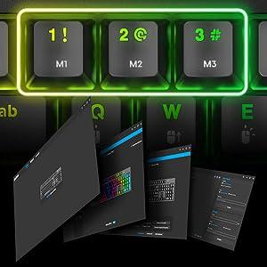 NOVA Optical PRO Mechanical Gaming Keyboard with software for RGB customization