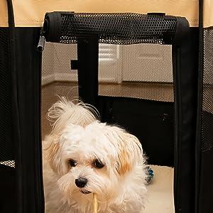 roll up pet playpen door