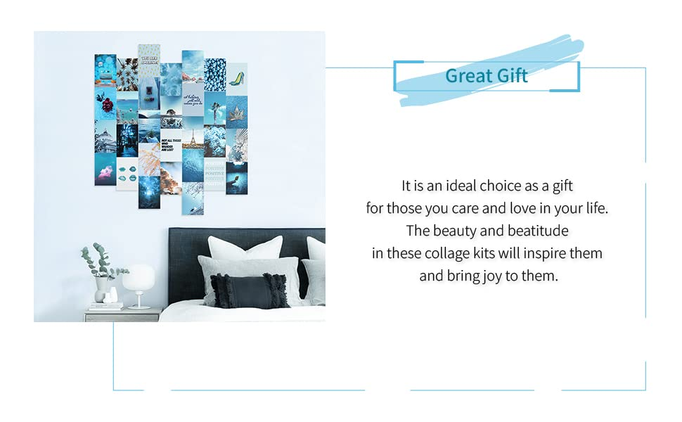 blue wall collage kit
