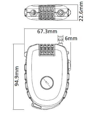 size dimension diagram bosvision abus masterlock abloy
