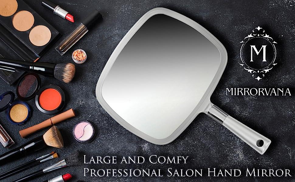 large hand mirror