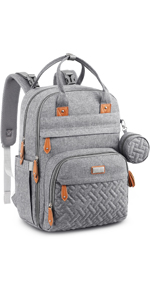 Functional yet Fashionable Diaper Bag Backpack