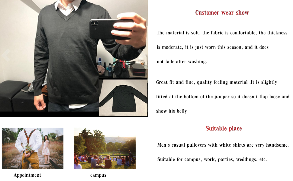 Men's Set-in Classic Sweater Pullover Jumper Knitwear