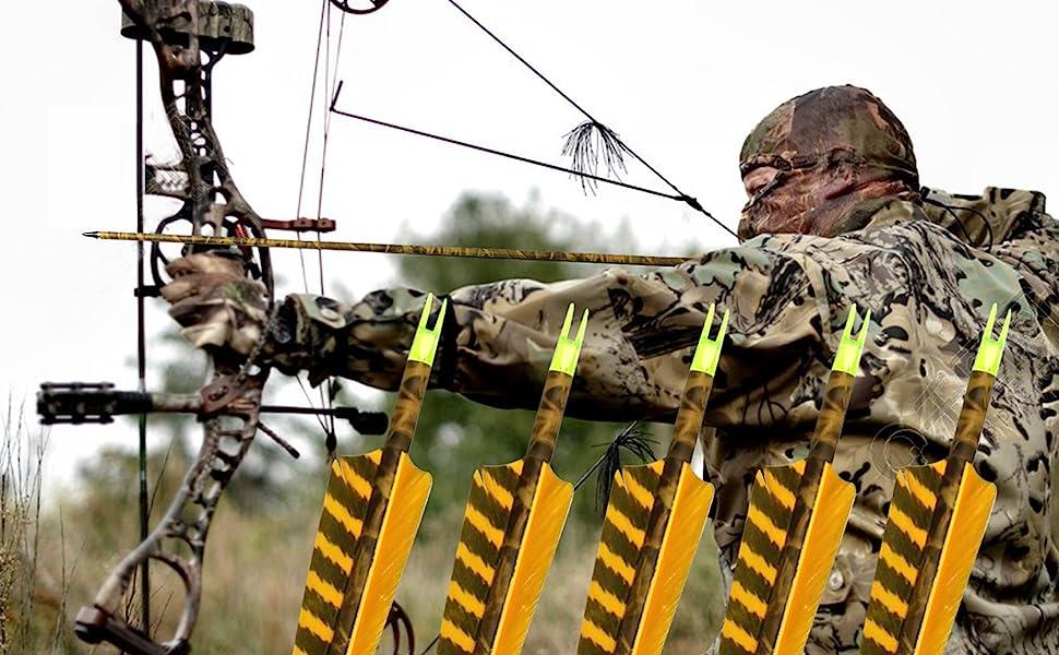 CARBONE ARROW Wraps Easton peaux Vert Camouflage Pack 13 Bow Hunting cible tir à l/'arc