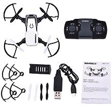 Flashandfocus.com 86c07b49-8803-4250-849b-436a74465fbe.__CR0,0,300,300_PT0_SX220_V1___ SIMREX X300C Mini Drone RC Quadcopter Foldable Altitude Hold Headless RTF 360 Degree FPV Video WiFi 720P HD Camera 6…