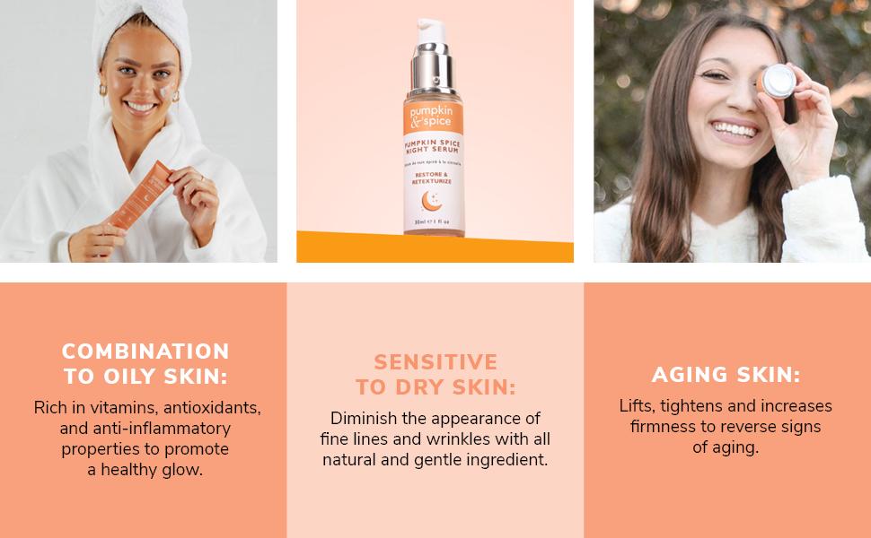 Features of Pumpkin Spice Night Bundle Skincare Kit