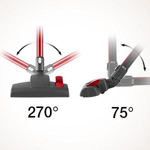 Cepillo de piso flexible de 270°