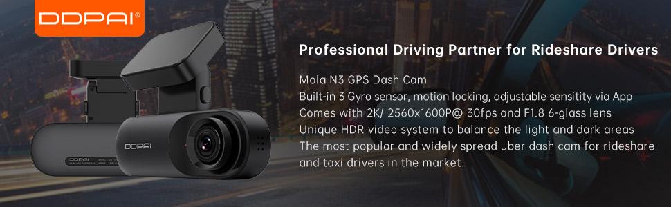 Ddpai Mola N3 Car Camera Dash Cam With Gps 2560 X 1600p Elektronik