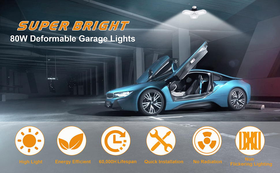 deformable garage light