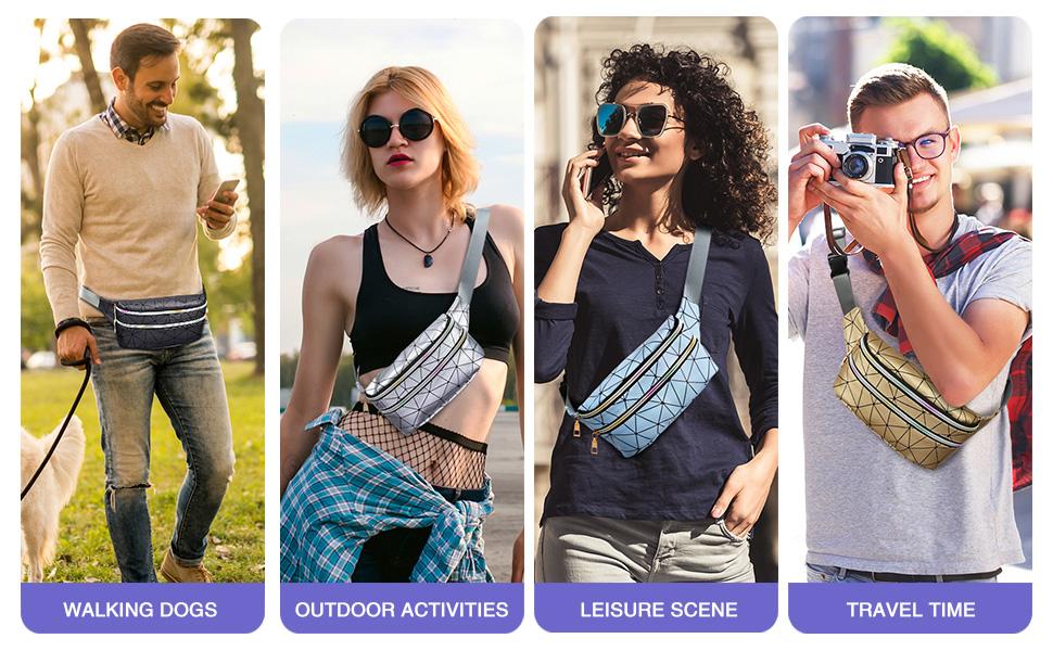 fanny packs for women cute fanny pack for kids fanny pack for men girls boys fashion travel black