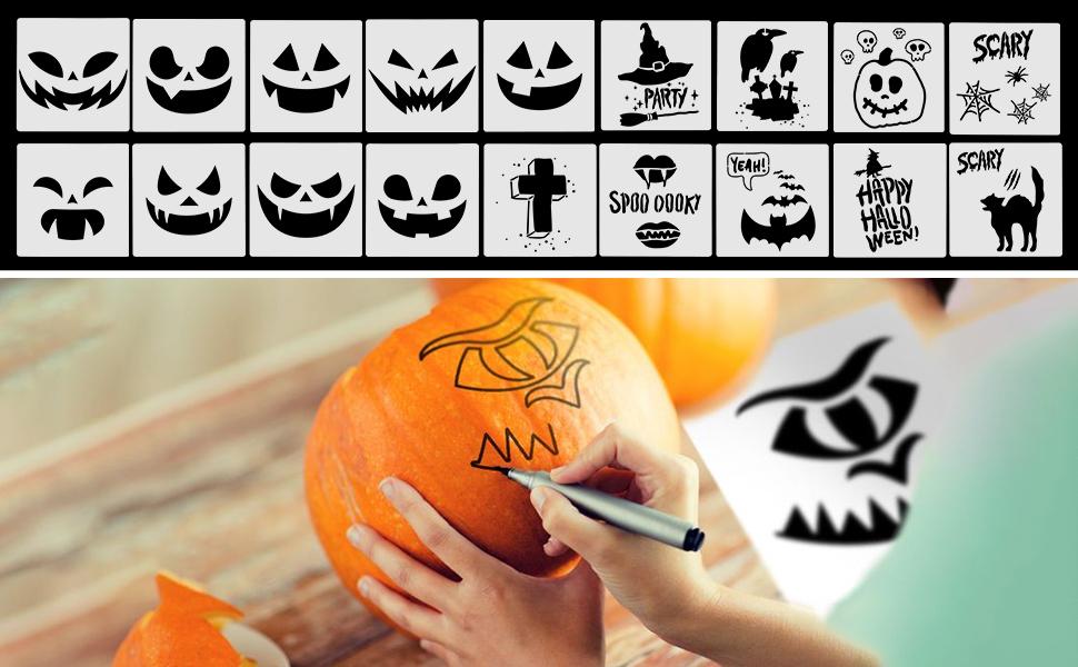 environ 19.05 cm Jack Citrouille Halloween Stencil-Réutilisable 7.5 X 7.5 in