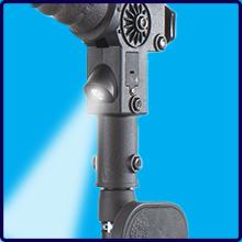 Crutch Embedded Flashlight