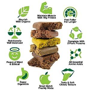 BodyMe Organic Vegan Protein Bars or Vegan Protein Bar or Vegan Protein Snack - Eat Fresh