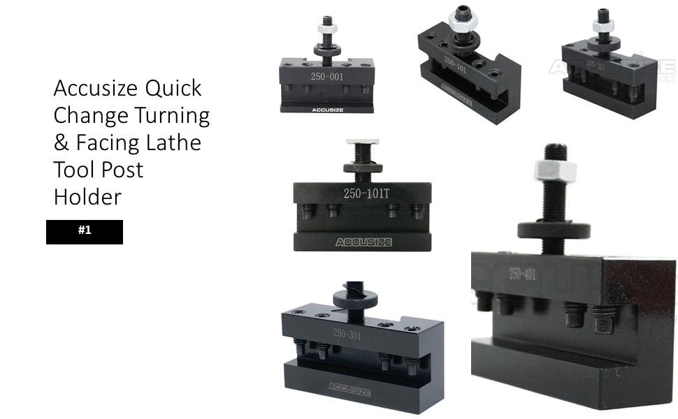 Accusize Quick Change Turning amp; Facing Lathe Tool Post Holder