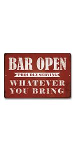 Putuo Decor Bar Open Metal Sign