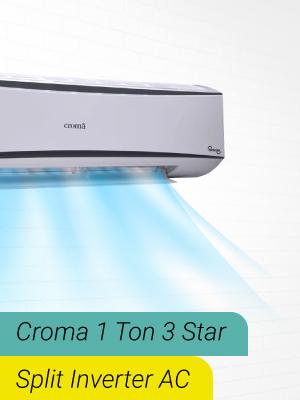 Croma 1 Ton 3 Star Split Invertor AC