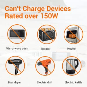 charge devices rated below 150W