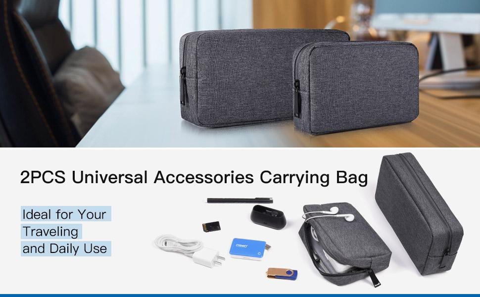 2PCS Electronics Accessories Bag