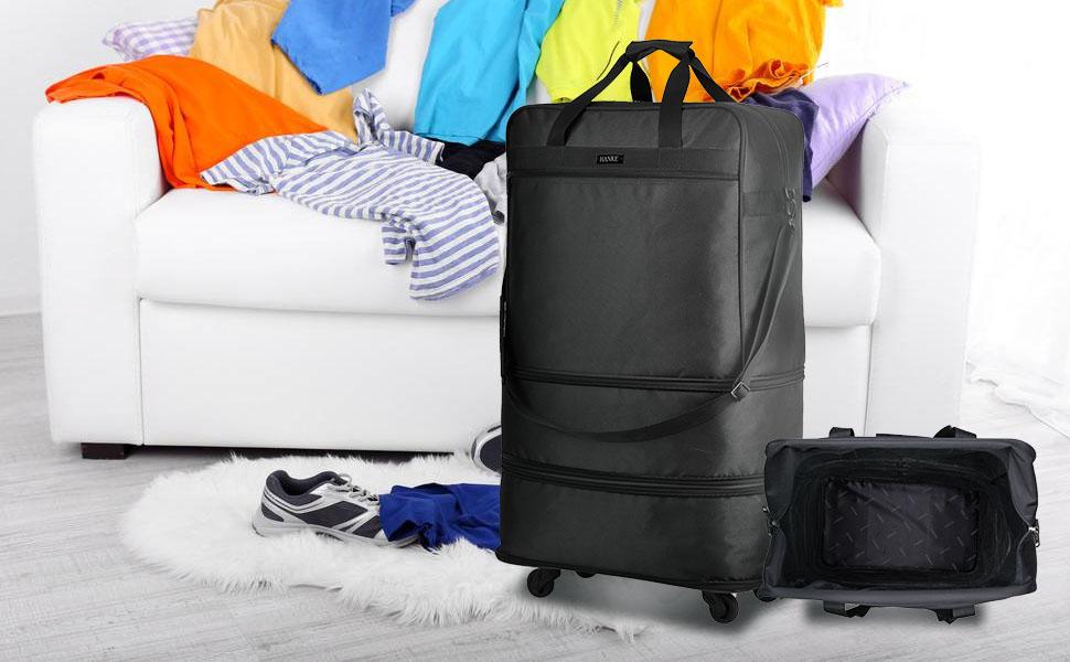 Hanke expandable foldable suitcase