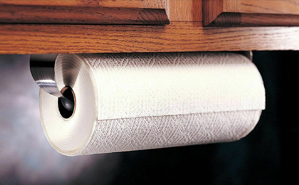 Stainless Steel Paper Towel Holder Under Cabinet