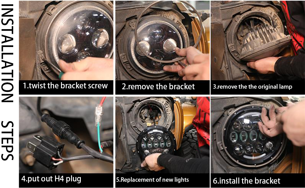 SUP-LIGHT 7 Inch LED Headlights for jeep wrangler jk jl