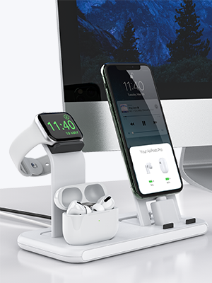 charging station for multiple devices apple watch, iphone, airpods