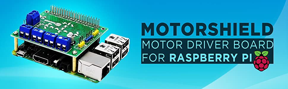 motorshield motor driver board for raspberry pi