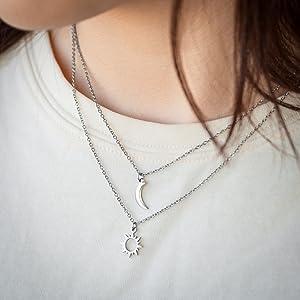 sun moon necklace