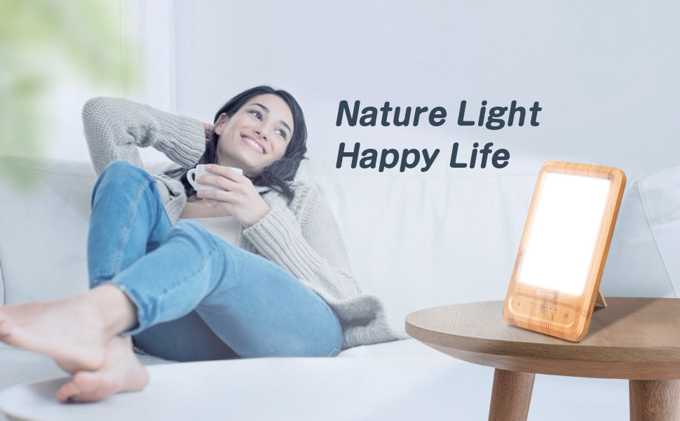 Dreamegg Happy Light Sun Lamp Box Bright White Light Lamp