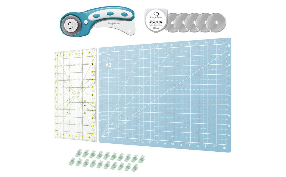 Rotary Cutter Set Turquoise A3