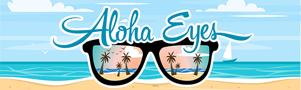 ALOHA EYEWEAR EYES GLASSES LOGO