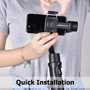 gimbal stabilizer for smartphone 3-Axis handheld tripod for XR XS Max X 8 Plus 7 6 S9 easy to use
