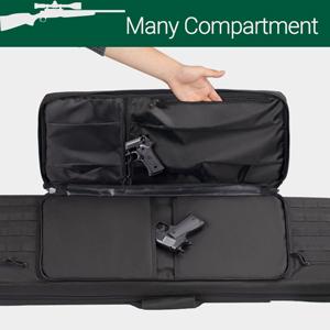 rifle gun bag double slots double long rifle bag case molle carbine padded pistol
