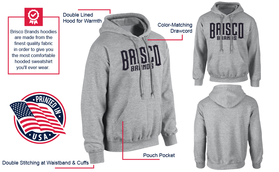 Info Graphic for Hooded Sweatshirt Details