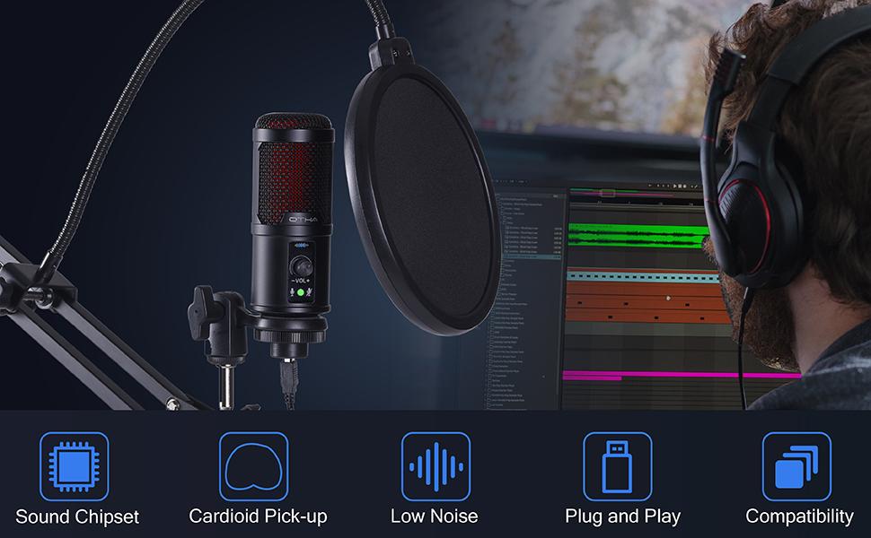 USB microphone set
