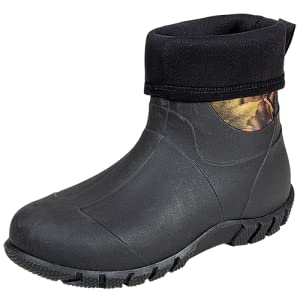 TENGTA Men's Mid Insulated Rubber Neoprene Rain Boots
