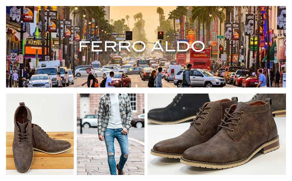 Ferro Aldo Men's Blaine Oxford Black