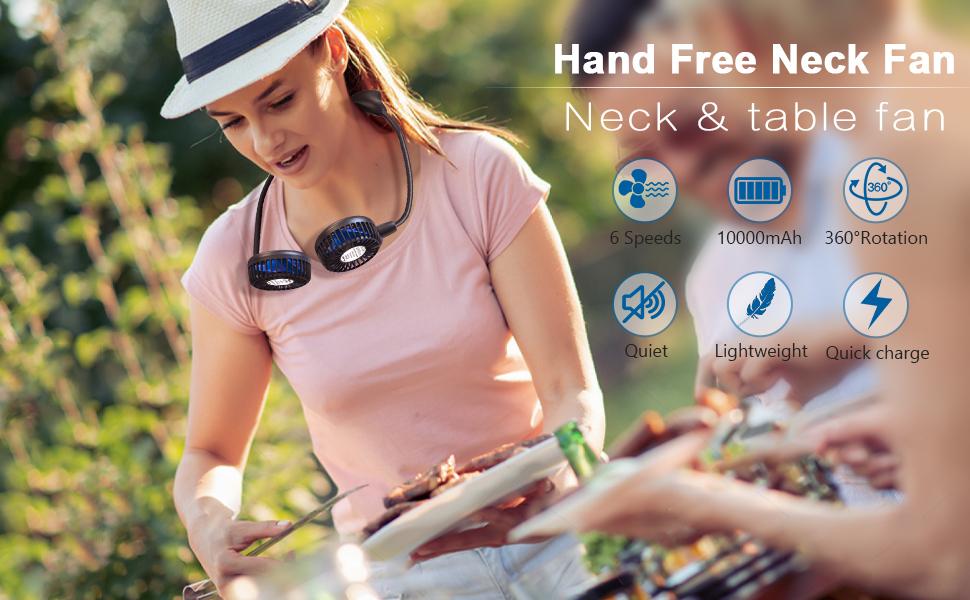 Hands Free Neck Fan