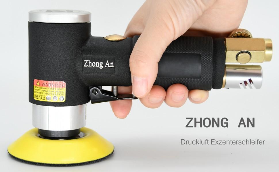 """Leistungstark bis 12000RPM Hohe Geschwindigkeit Dyna-Living Exzenterschleifer Mini Druckluft Schleifmaschine Poliermaschine Rotationspolierer Winkelschleifer Polierer mit 2/"""" 3/""""Schleifteller"""