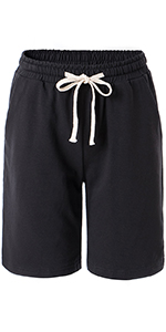 women's black bermuda short