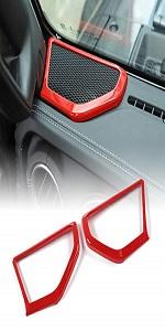 A pillar Speaker Cover Trim for 2018 2019 2020 2021 Jeep Wrangler JL JT