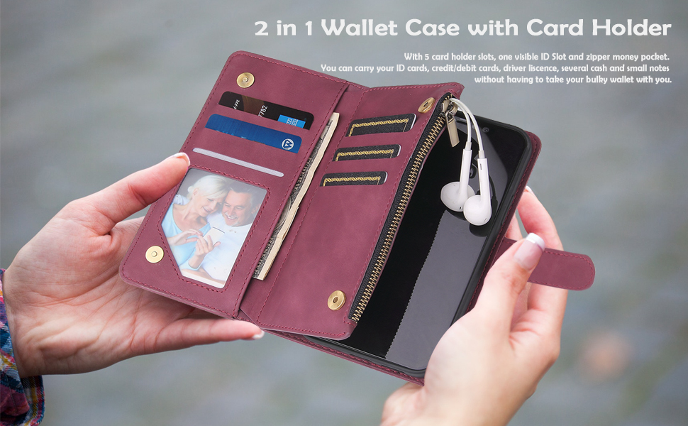 2 in 1 Wallet Case with Card Holder