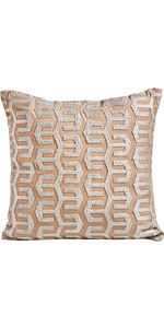 MOTINI Embroidered Wave Pattern Decorative Cushion Covers Accent