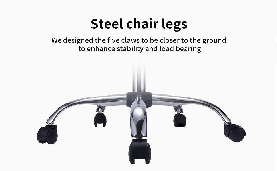 Steel chair legs