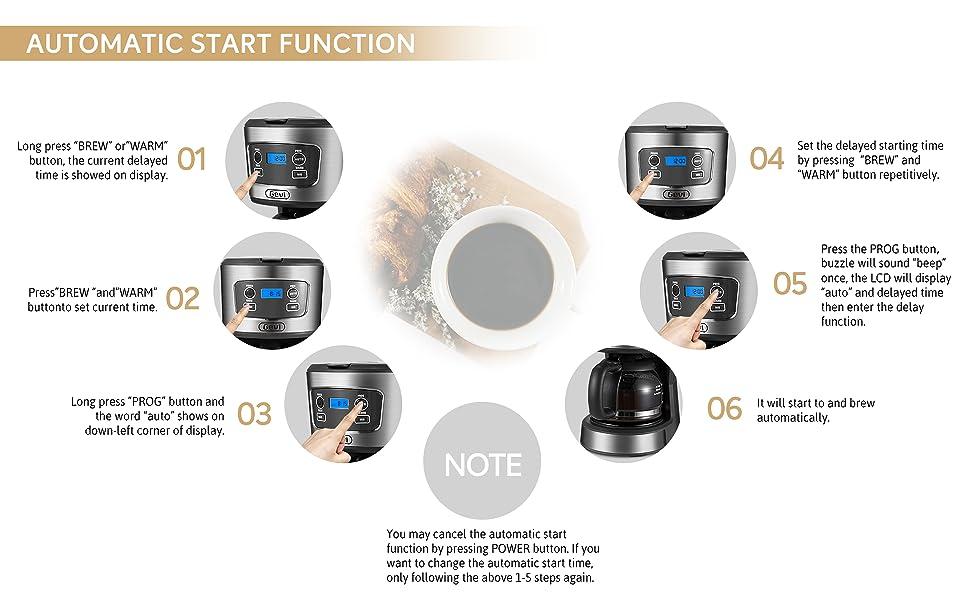 gevi 12 cups programmable coffee maker