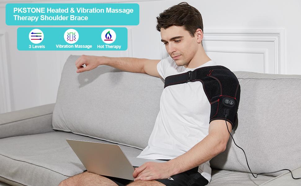 PKSTONE Heated Massaging shoulder brace