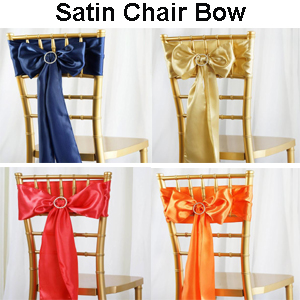 satin chair sash