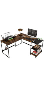 Switchable 59'' L Shaped desk