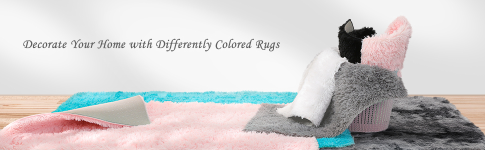 Differently colored rugs